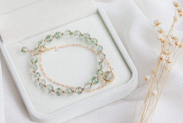 Gold Garden Crystal Beaded Bracelet Handmade Jewelry Accessories Gift Women charming