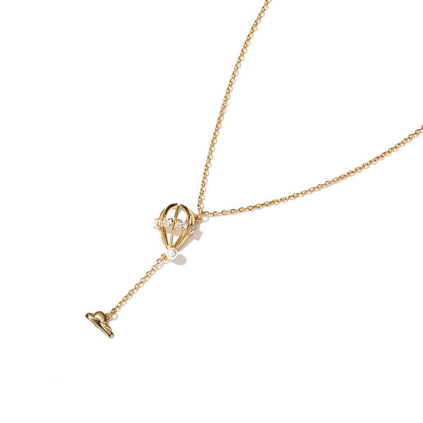 Gold Plated Y-Necklace Cute Pendant Necklace Fashion Jewelry Accessories Gift for Women