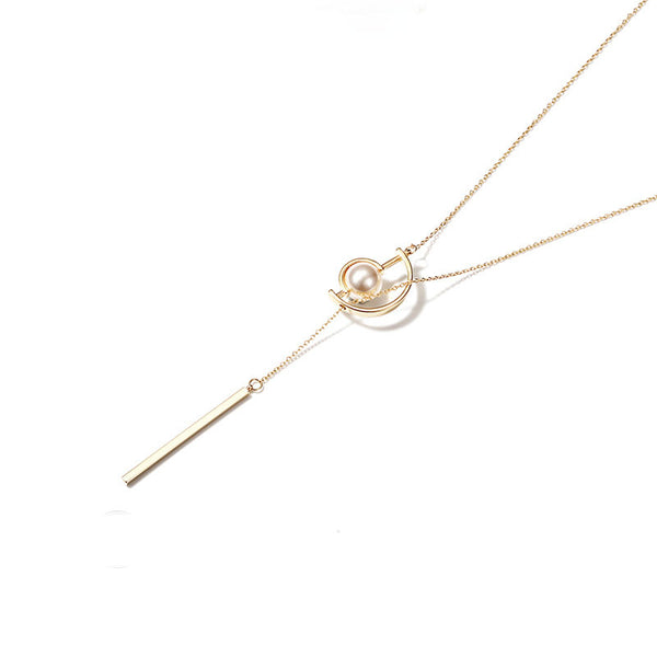 Gold Y Necklace Long Chain Pendant necklace Jewelry Accessories Gift Women sexy