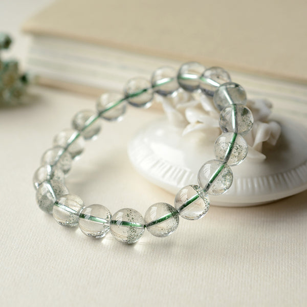Green Garden Crystal Bead Bracelet Handmade Jewelry Accessories Women cute