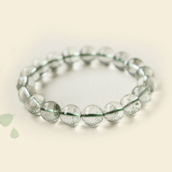 Green Garden Crystal Bead Bracelet Handmade Jewelry Accessories Women gift
