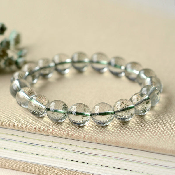 Green Garden Crystal Bead Bracelet Handmade Jewelry Accessories Women