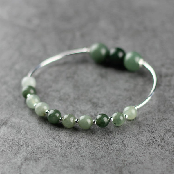Green Jade Beaded Bracelet Handmade Gemstone Jewelry Accessories Gifts Women adorable