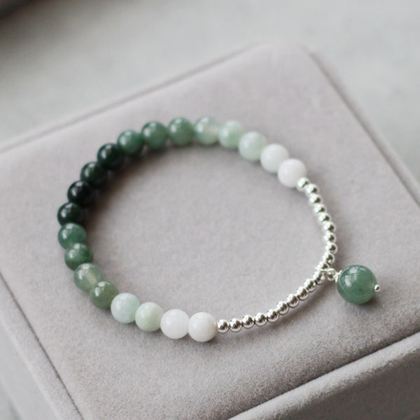 Green Jade Beaded Bracelet Handmade Gemstone Jewelry Accessories Gifts For Women