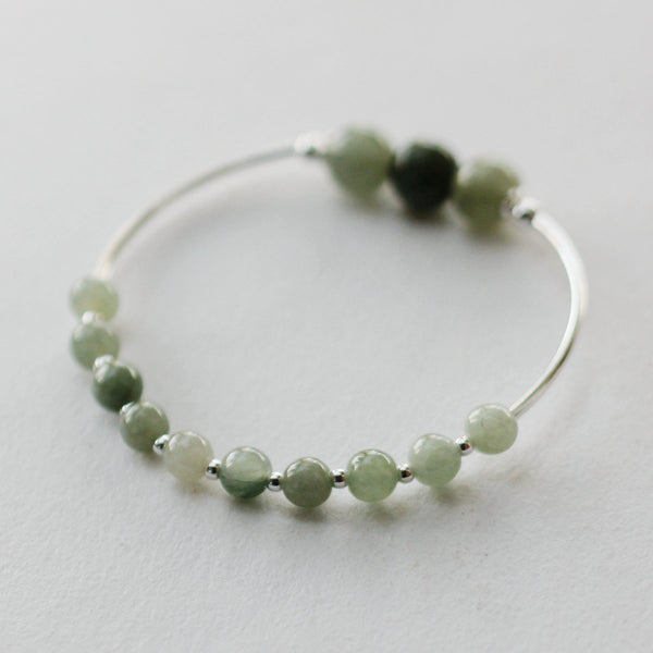 Green Jade Beaded Bracelet Handmade Gemstone Jewelry Accessories Gifts Women chic