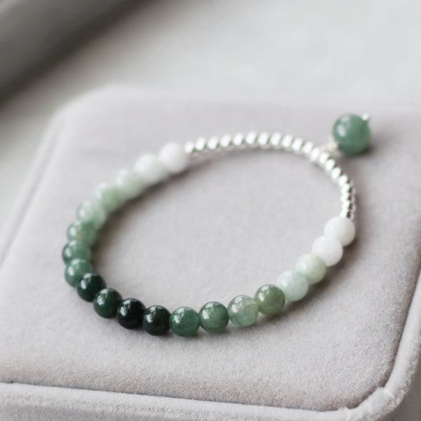 Green Jade Beaded Bracelet Handmade Gemstone Jewelry Accessories Gifts Women