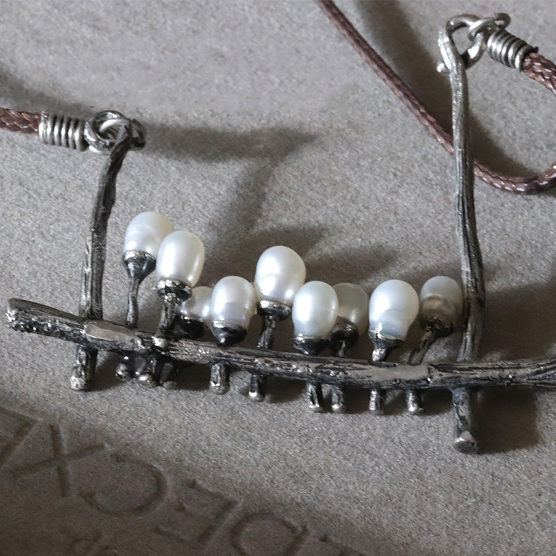 Handmade Baroque Pearl Pendant Necklace Jewelry Accessories Gifts Women Men Vintage