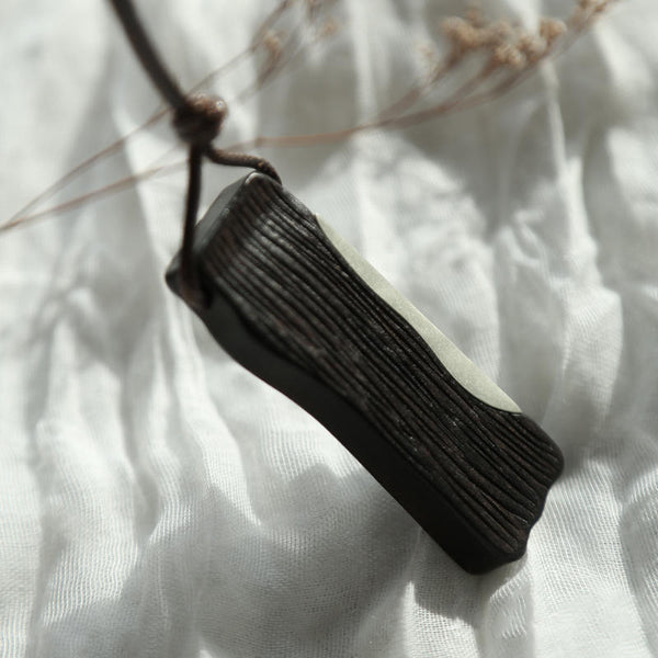 Handmade Ebony Pendant Long Necklace Jewelry Accessories Gifts Women Men