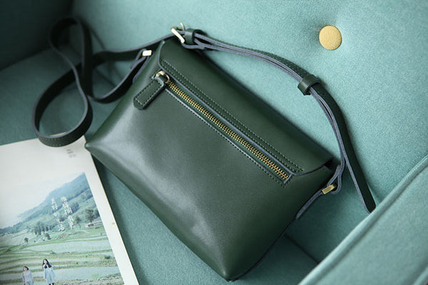 Handmade Flap Bag Women's Leather Crossbody Bags Purses For Women cool