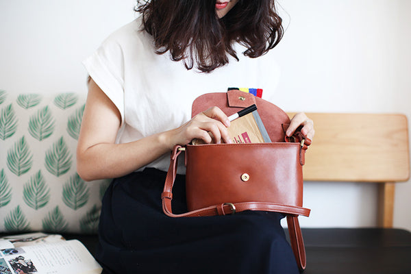 Handmade Flap Bag Women's Leather Crossbody Bags Purses For Women stylish