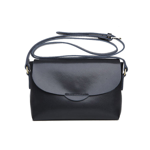 Handmade Flap Bag Women's Leather Crossbody Bags Purses For Women