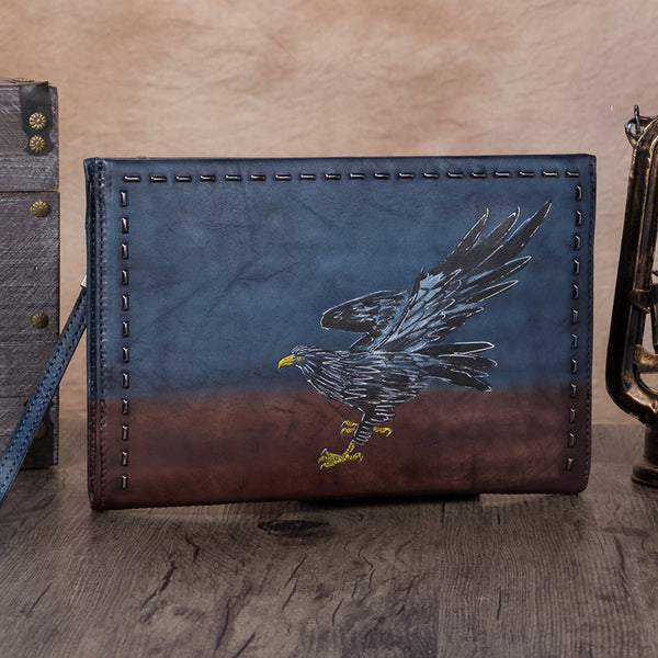 Handmade Genuine Leather Clutch Handbag Wallet Purse Accessories Gift Women beautiful