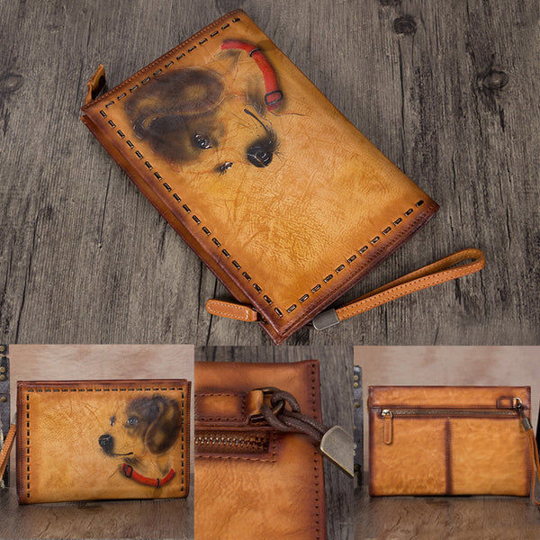 Handmade Genuine Leather Clutch Handbag Wallet Purse Accessories Gift Women fashionable
