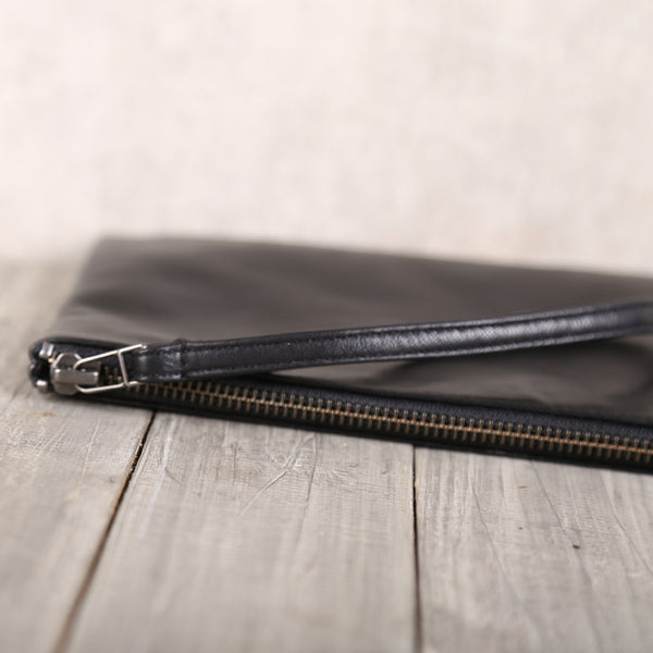 Handmade Genuine Leather Clutches Handbags Phone Case Women Men Unique