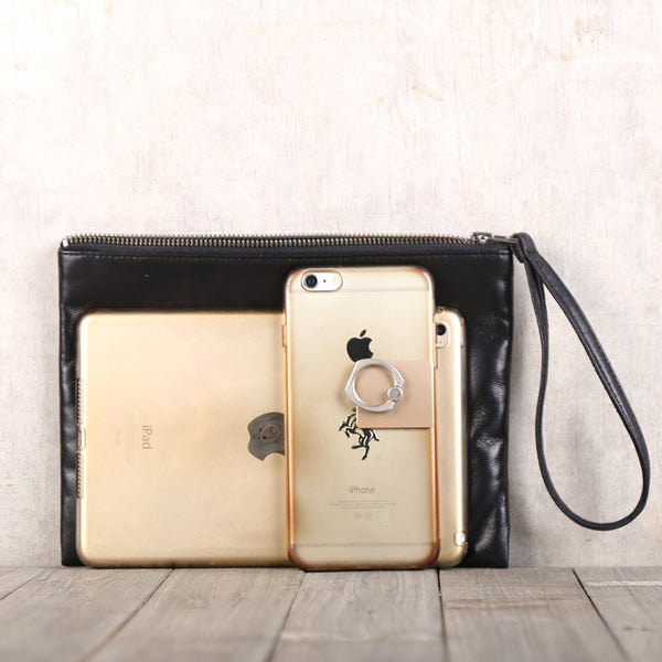 Handmade Genuine Leather Clutches Handbags Phone Case Women Men cool