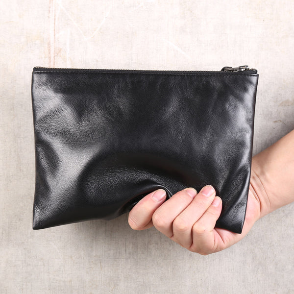 Handmade Genuine Leather Clutches Handbags Phone Case Women Men fashionable
