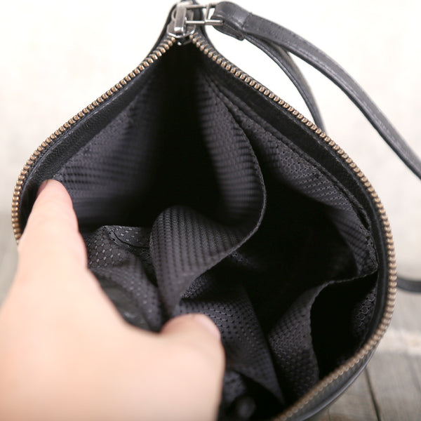 Handmade Genuine Leather Clutches Handbags Phone Case Women Men fine
