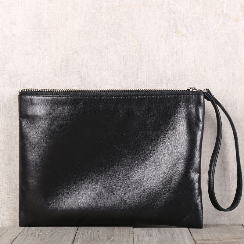 Handmade Genuine Leather Clutches Handbags Phone Case Women Men