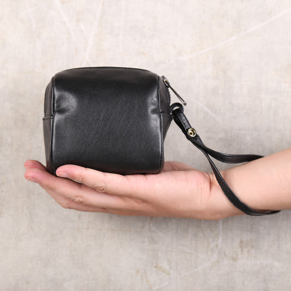 Handmade Genuine Leather Digital Package Coin Purse Wallets Clutches Purse Women Men chic