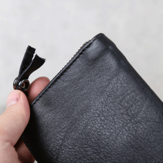 Handmade Genuine Leather Key Wallets Coin Purse Card Wallet Women Men Quality