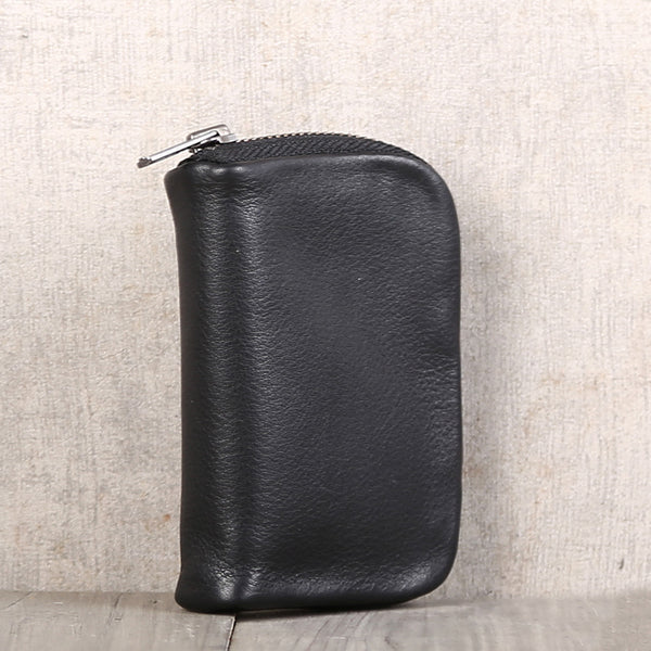 Handmade Genuine Leather Key Wallets Coin Purse Card Wallet Women Men chic