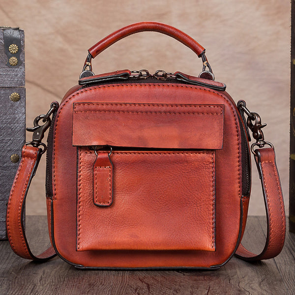 Ladies Genuine Leather Handbags Small Crossbody Bags Purse for Women