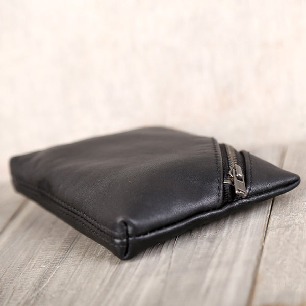 Handmade Genuine Leather Short Coin Card Wallets Clutches Purse Women Men gift