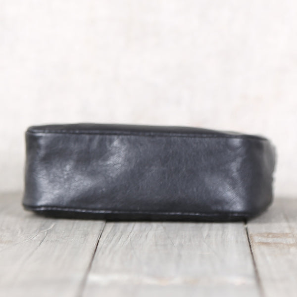 Handmade Genuine Leather Short Coin Card Wallets Clutches Purse Women Men card holder