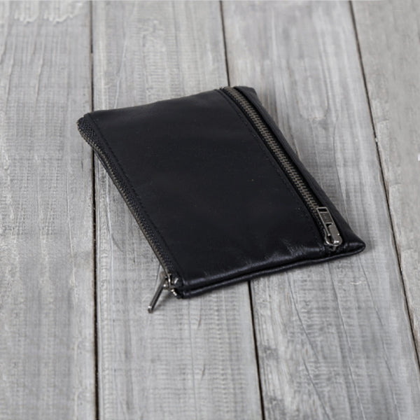 Handmade Genuine Leather Short Wallets Coin Purse Card Wallet Women Men fine