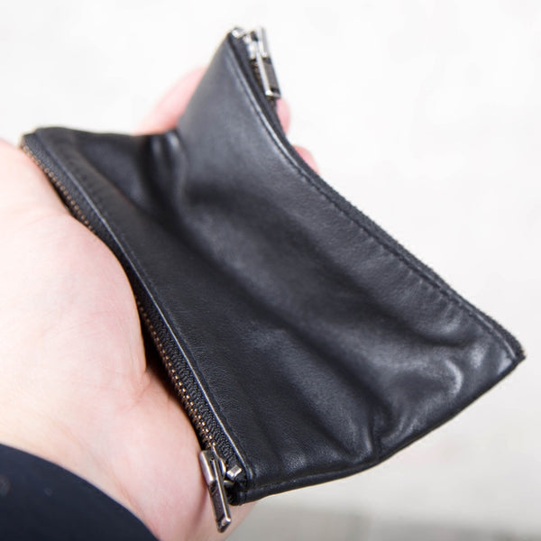 Handmade Genuine Leather Short Wallets Coin Purse Card Wallets Women Men elegant