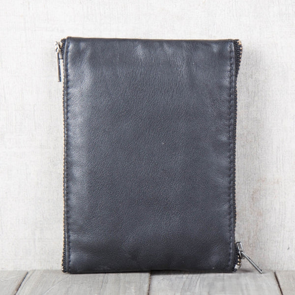 Handmade Genuine Leather Short Wallets Coin Purse Card Wallets Women Men