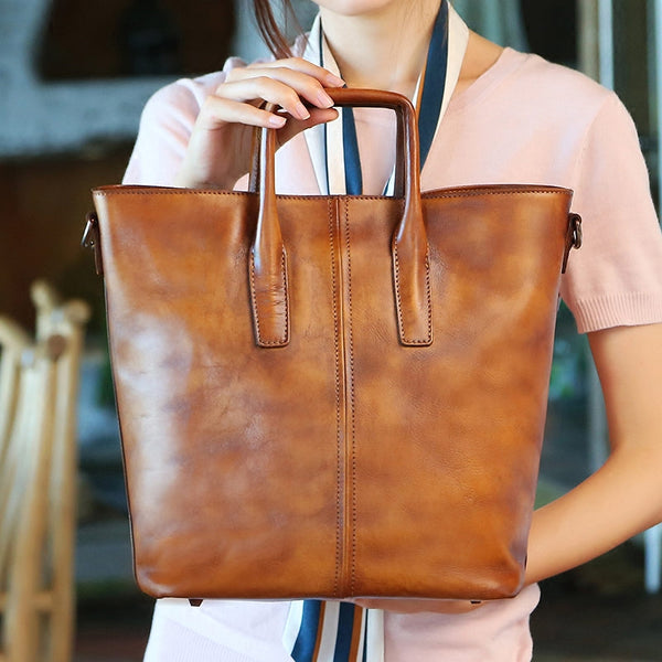 Handmade Genuine Leather Totes Handbags Crossbody Shoulder Bags Purses Accessories Gift Women Unique