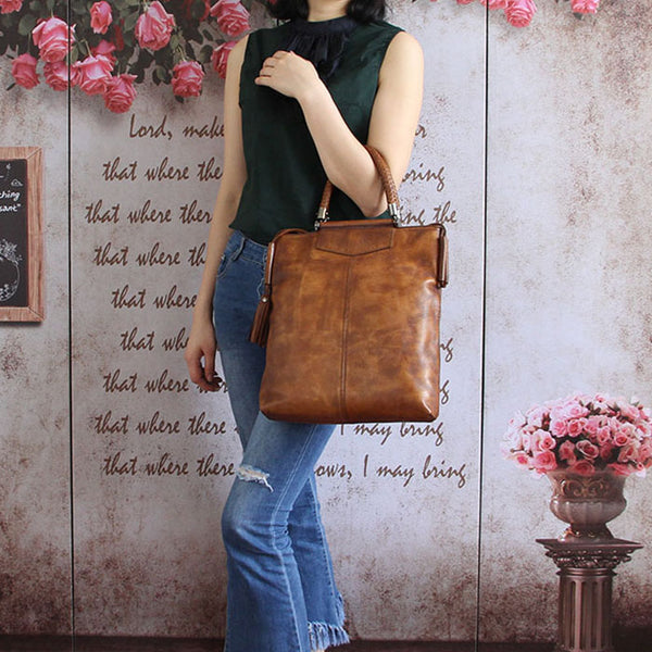Handmade Genuine Leather Totes Handbags Crossbody Shoulder Bags Purses Accessories Gift Women chic