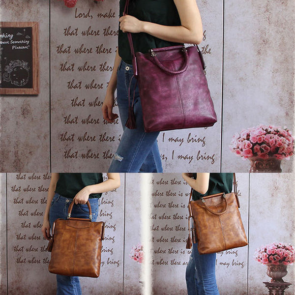 Handmade Genuine Leather Totes Handbags Crossbody Shoulder Bags Purses Accessories Gift Women elegant