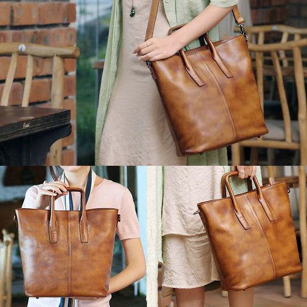 Handmade Genuine Leather Totes Handbags Crossbody Shoulder Bags Purses Accessories Gift Women fashionable