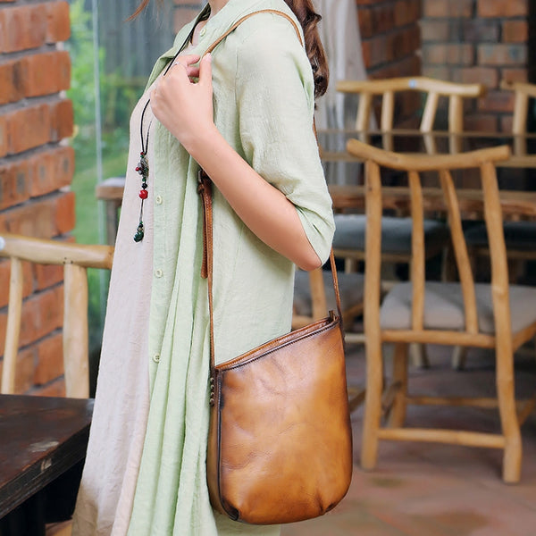 Handmade Genuine Leather Vintage Crossbody Shoulder Bags Purses Women beautiful 1