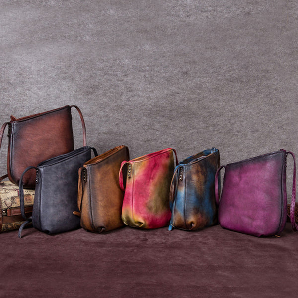 Handmade Genuine Leather Vintage Crossbody Shoulder Bags Purses Women nice
