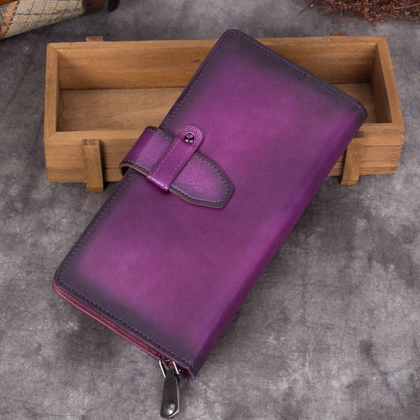 Handmade Genuine Leather Vintage Long Wallet Purse Clutch Accessories Gift Women Vintage 1