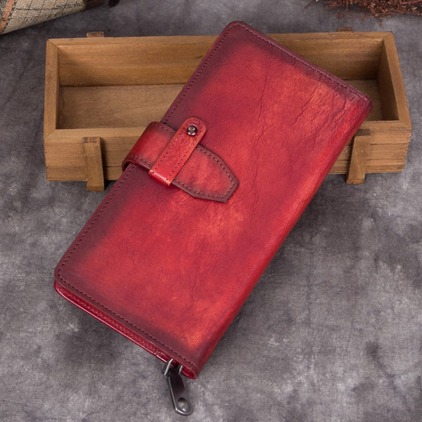 Handmade Genuine Leather Vintage Long Wallet Purse Clutch Accessories Gift Women Vintage 2