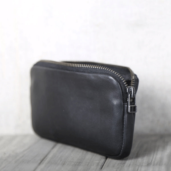 Handmade Genuine Leather Wallet Clutches Handbags Phone Case Women Men gift