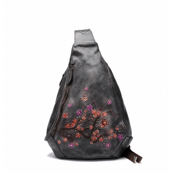 Handmade Ladies Genuine Leather Backpack Purse Small Rucksack Bag For Women Black