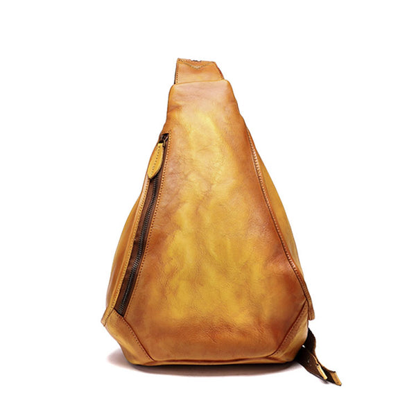Handmade Ladies Genuine Leather Backpack Purse Small Rucksack Bag For Women Cute