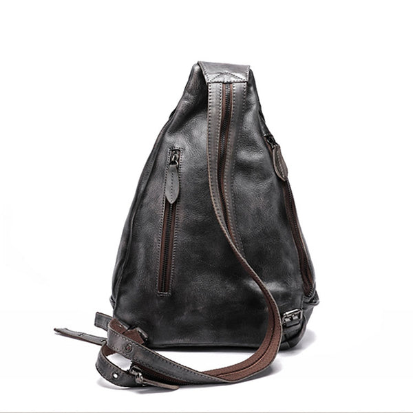 Handmade Ladies Genuine Leather Backpack Purse Small Rucksack Bag For Women Durable