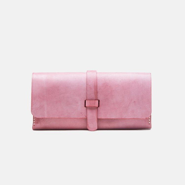 Chic Womens Pink Leather Long Wallets Clutch Bags Purses for Women