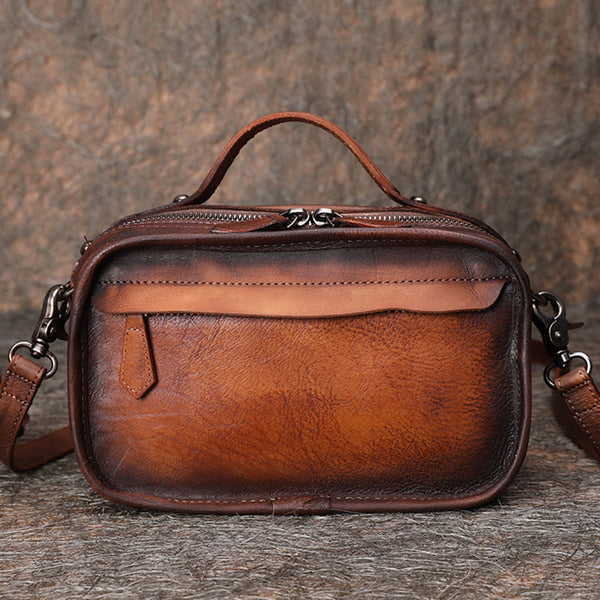 Handmade Leather Crossbody Bags Shoulder Bag Purses for Women