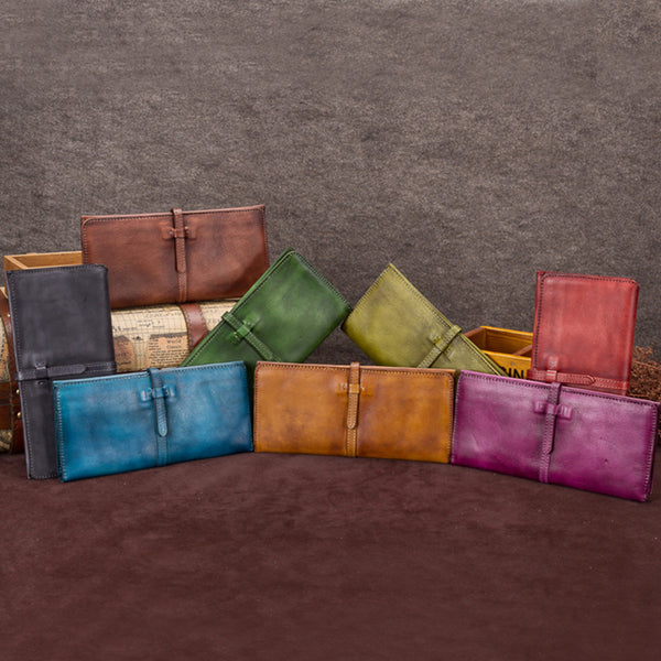Vintage Leather Womens Clutch Wallet Cool Leather Wallets for Women