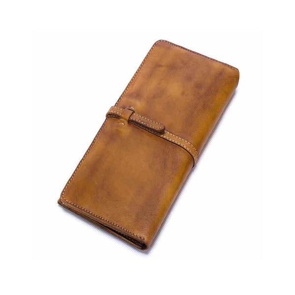 Handmade Leather Long Wallet Clutch Accessories Gift Women