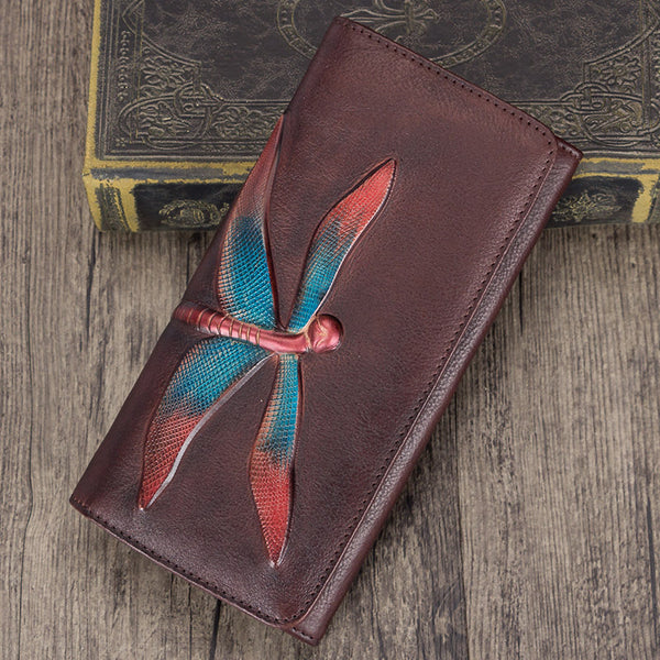 Handmade Leather Long Wallet Purse Clutch Accessories Women Best