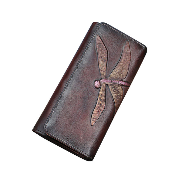 Handmade Leather Long Wallet Purse Clutch Accessories Women