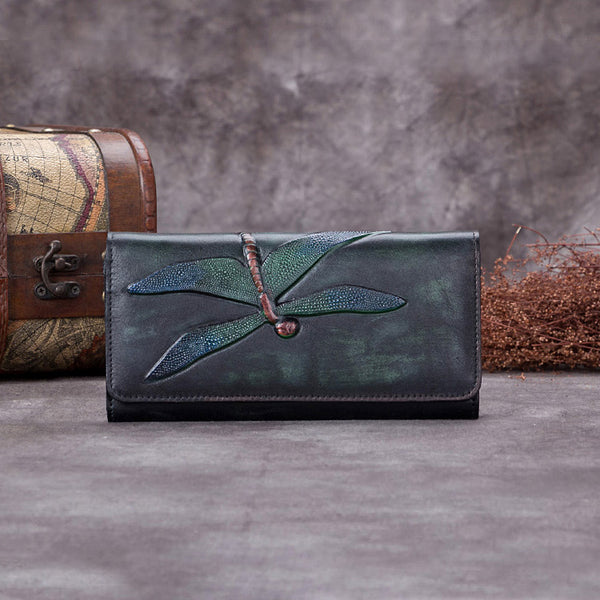 Handmade Leather Long Wallet Purse Clutch Accessories Women cool